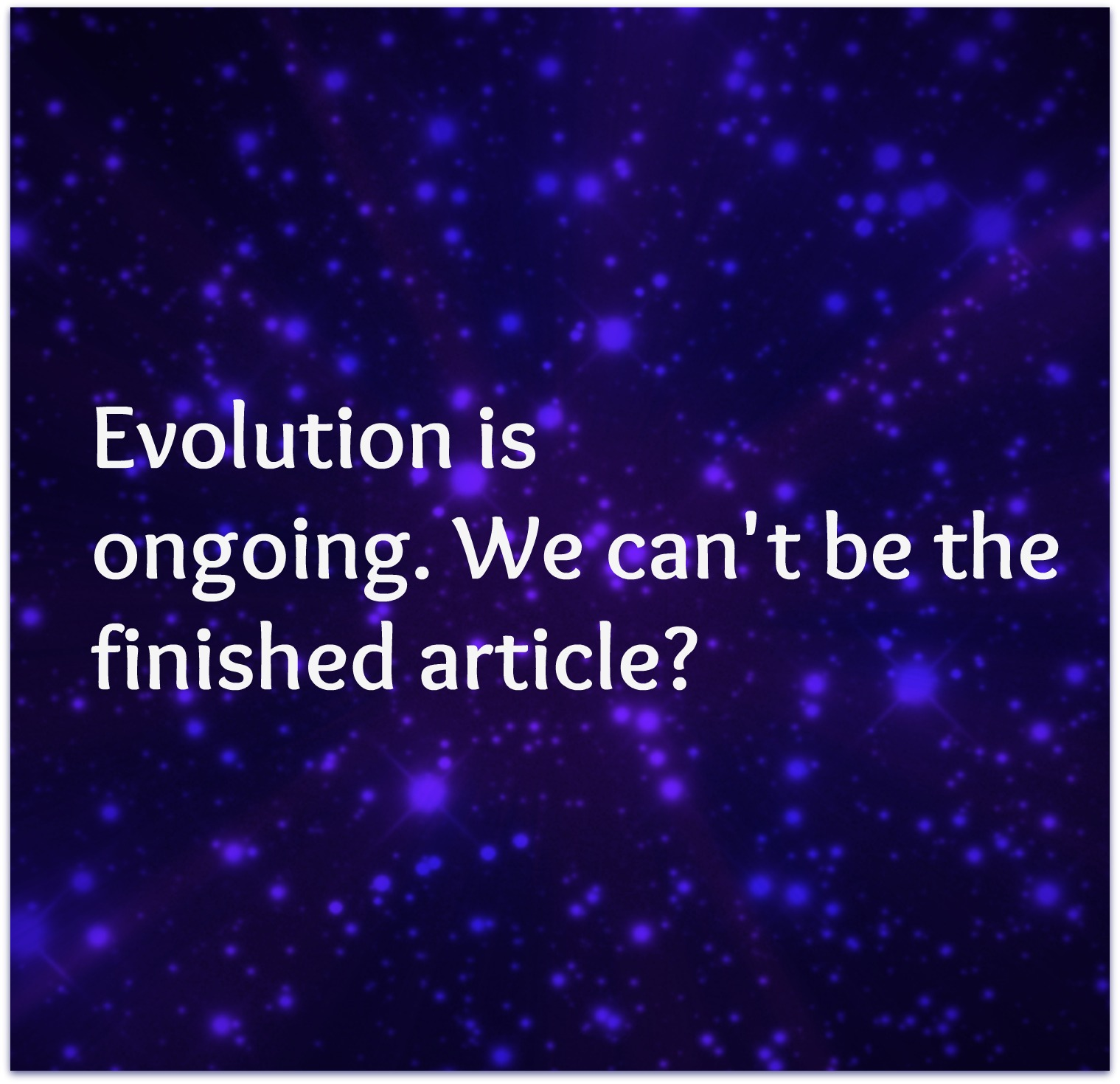 evolution haiku